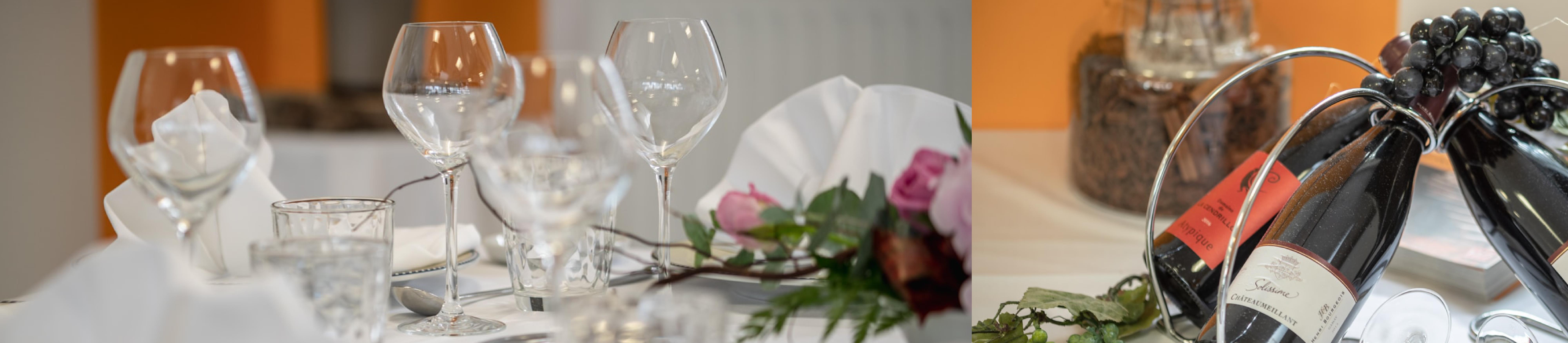 Soirée Oenologique : Repas avec dégustation de vin en accord avec les mets - Jeudi 17 octobre - Interfor Formation Continue